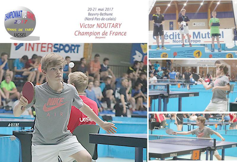 Champion de france de tennis de table actualit s ecole coll ge lyc e notre dame de - Champion de tennis de table ...